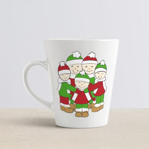 Christmas Cartoon Family mug Mockup