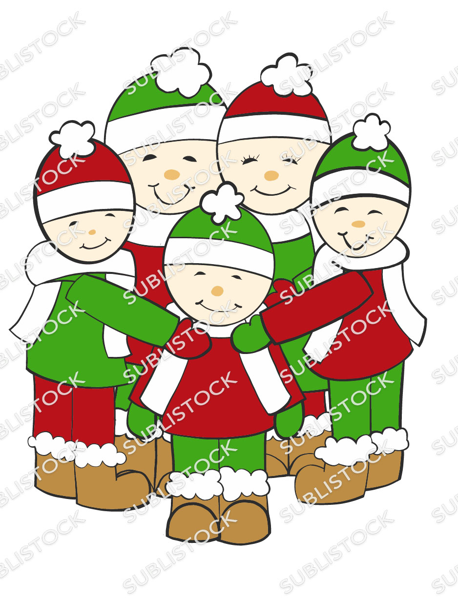 Christmas Cartoon Images Clip Art.Cartoon Christmas Family