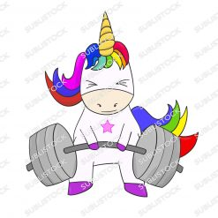 Rainbow Powerlifting Unicorn